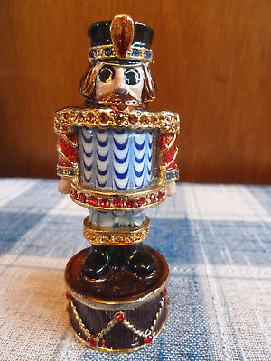 Fitz and Floyd Guild Collection, Enamel * Glass* Crystal Nutcracker Figure 2006
