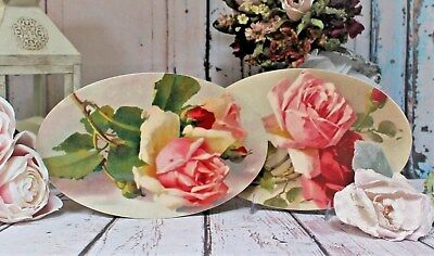 """Shabby Chic Vintage Country Cottage style Wall Decor Sign """"Pink & Red Roses..."""""""