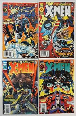 "1995 Marvel Comics ""The Amazing X-Men"" #1, #2, #3 and #4 ""The Age of Apocalypse"""