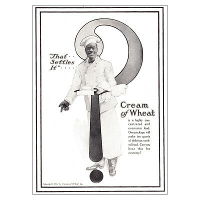 1918 Cream of Wheat: That Settles It Vintage Print Ad