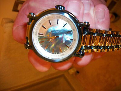 Chase-Durer Xanadu Blue MOP Mother of Pearl rare Automatic Watch stainless steal