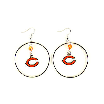 NFL Chicago Bears Dangle Style Hoop Earrings girls women ladies