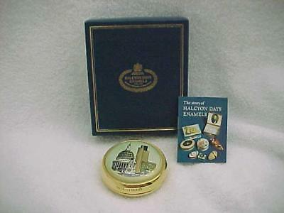 Halcyon Days 1989 London Paperweight -- MINT and in Box with Papers