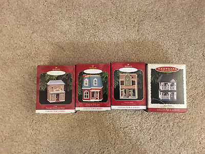 Hallmark Ornaments Houses Cafe Grocery Store