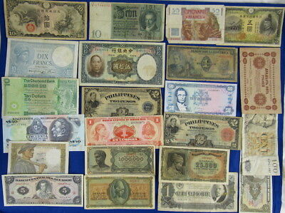 Lot Of Vintage World Currency / Banknotes