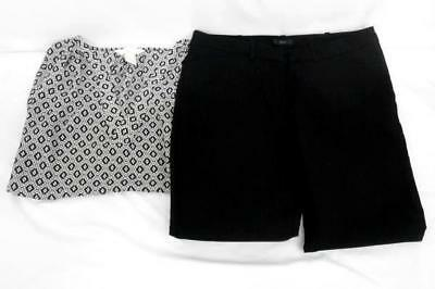 Lot of 2 Women's Business Casual Work Career Blouse and Trouser Pants Size 4