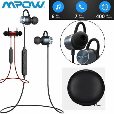 MPOW Magnet Wireless Bluetooth Sports Earphone Headset Headphone For iPhone 7 8