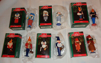 NEW Set 6 Nutcracker Hallmark Keepsake Ornaments Carpenter Baker Artist More