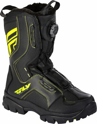 Fly Racing Snowmobile Marker Boa Boots (Black/Hi-Vis) Choose Size