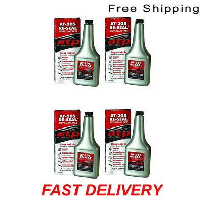Set of 4 ATP AT-205 Re-Seal Fast Effective Stops Leaks 8 Ounce Bottle