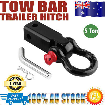 HOT Tow Bar Hitch Receiver Towbar 4WD Off Road Recovery 5 Ton Kit Bow Shackle AU