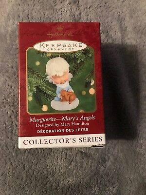 "2000 Hallmark Ornament Mary's Angels ""Marguerite"" with Bunny 13th in Series"