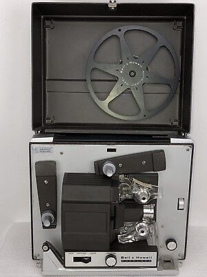 Vintage Bell & Howell Autoload 356A Super 8MM Film Projector - Works/No Bulb