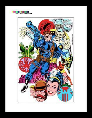 Mike Machlan Marvel Fanfare #41 Rare Production Art Pin-Up