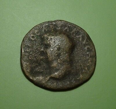 "Rare Ancient Roman Bronze As Of Nero, 54-68 Ad  ~  Victory Advancing With ""sc"""