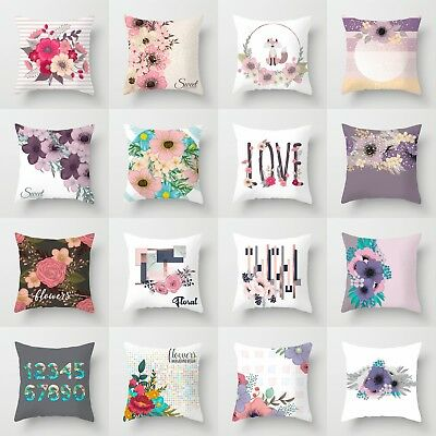 18'' Beautiful Flower Polyester Pillow Case Cushion Cover Waist Cover Home Decor