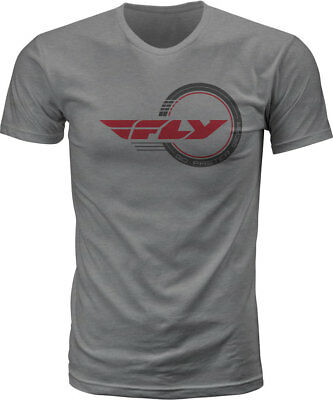 Fly Racing MX Motocross Standard Issue Tee (Heather Grey) L (Large)