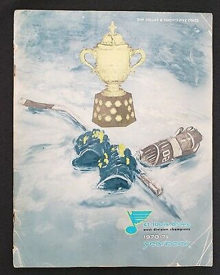Rare Vintage 1970-71 ST LOUIS BLUES Yearbook West Division Champions Hockey