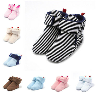 Unisex Baby Home Walking Boots Kids Newborn Winter Warm Soft For 0-18M Babyshoes