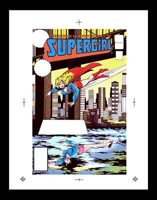 Keith Giffen Supergirl #4 Rare Production Art Cover
