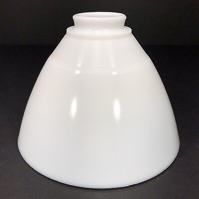 """Vintage 8"""" Milk Glass Torchiere Diffuser Light Shade Pendent Table Floor Lamp"""