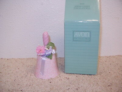 NIB AVON Fine Collectibles Spring Chimes Porcelain Bell Dated 1991