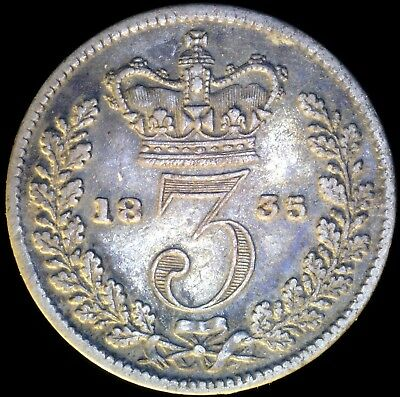 Great Britain 1835, 3 Pence KM# 710 {Silver}