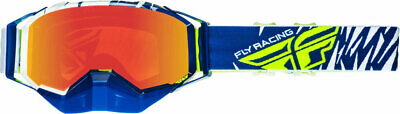 Fly Racing Zone Snow Goggles (Blue/White/Hi-Vis w/Fire Lens)
