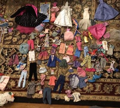 Barbie Doll Clothes And Accessories Huge Lot