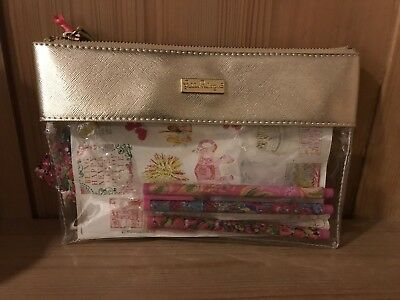 Lilly Pulitzer Agenda Bonus Pack With Pen Holder, 3 Pens, Eraser, Pouch