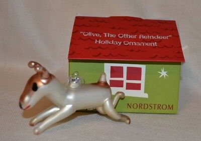 Nordstrom~ Olive The Other Reindeer Christmas Ornament, Blown Glass #6