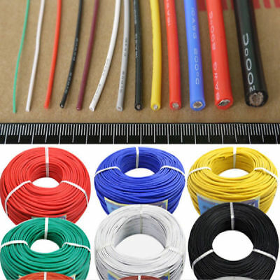 1-20 Meters Flexible Silicone Wire Cable 8/10/12/14/16/18/20/22/24/26/28/30 AWG