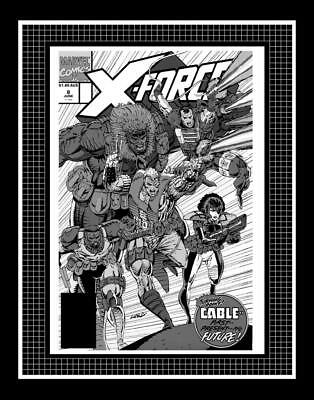 Rob Liefeld X-Force #8 Rare Production Art Cover Mono