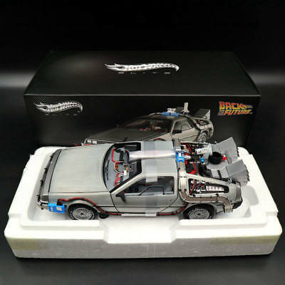 1/18 Hot Wheels BCJ97 Elite Back To The Future Time Machine Ultimate Edition