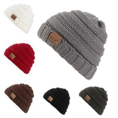 Kids Baby Boys Girls Pom Hat Autumn Winter Warm Crochet Knit Bobble Beanie Cap