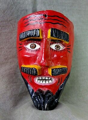 Moro Chino Mask. Mexican Dance Mask. Mexican Folk Art.