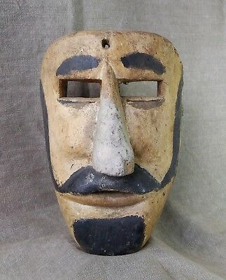 Vintage Moor Mask. Mexican Dance Mask. Mexican Folk Art.