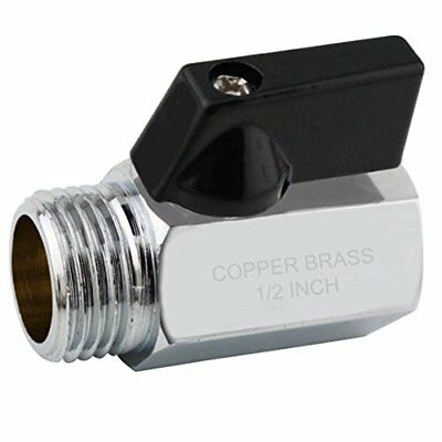 YOO.MEE Shut-Off Brass Ball Valve 1/2'' Standard Connections with Polished