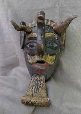 Moor Mask (Sad Moor Mask). Mexican Dance Mask. Mexican Folk Art.