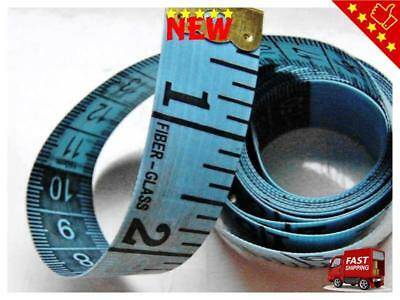 "Twin-Scale Tailor's Tape Measure, Length 150 cm 60"", Soft and Strong, in Blue"