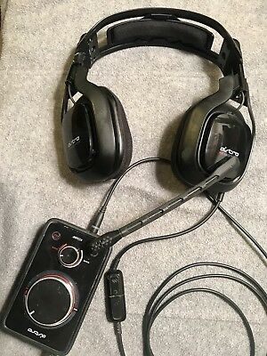 ASTRO Gaming A40 MLG Headset + MixAmp Pro for PS4, PS3, PC - Used - READ