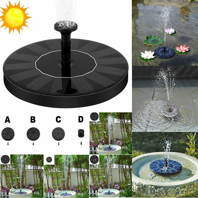 Floating Water Pump Solar Panel Garden Plants Watering Power Pool Fountain 7V