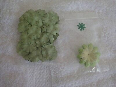 Scrapbooking and Papercraft Flower Embellishments in Shades of Green