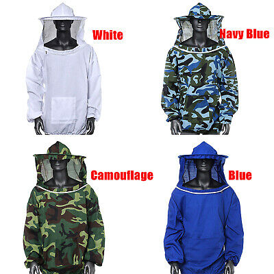 Beekeeping Jacket With Veil Hood Bee Keeping Protective Clothes One Size 4 Color