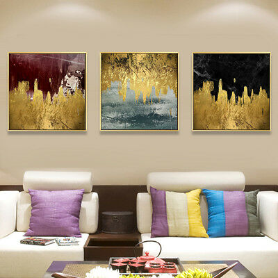 HK- Nordic Modern Abstract Color Block Painting Wall Picture Art Home Decor Arde