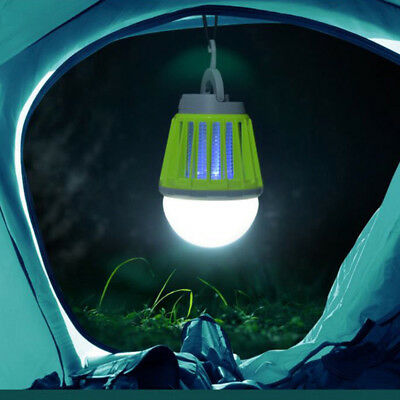 Portable Solar Panel LED Bulb Light Outdoor Mosquito Killer Camping Tent Lamp