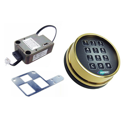 Amsec Esl10Xl Brass Deadbolt Lock W/ Brass Keypad - New Kit In Mfg Box
