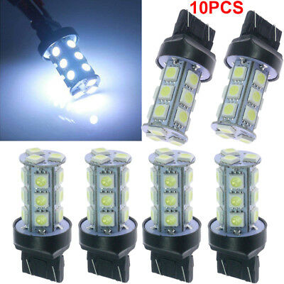 10x HID White 7443 7440 T20 18SMD LED Turn Signal Tail Brake Stop Light Bulbs US