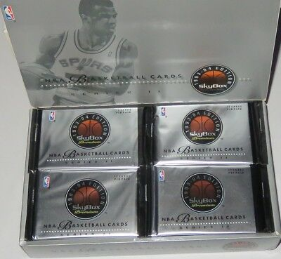 1993/94 Skybox Premium NBA Basketball 4-Pack Series 2 Lot Brand New from the Box