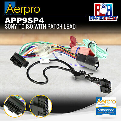 Aerpro APP9SP4 Secondary Harness with Patch Lead Suits Sony to ISO 16 Pin